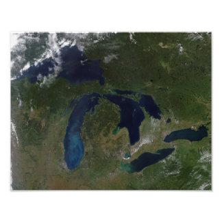 五大湖の衛星眺め フォトプリント
