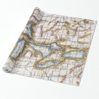 五大湖及びカナダ(1780年)のヴィンテージの地図 ラッピングペーパー
