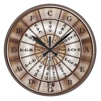 五番目音楽柱時計の円 ラージ壁時計