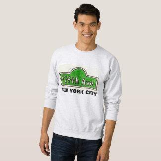 五番街のニューヨークシティの道路標識のスエットシャツ スウェットシャツ