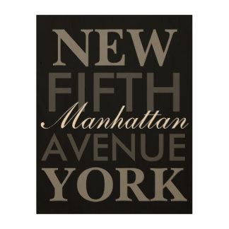 五番街ニューヨーク ウッドウォールアート