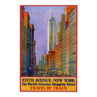 五番街-ニューヨーク ポスター