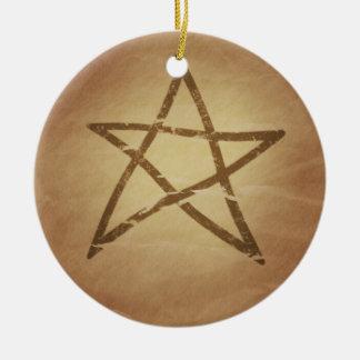 五芒星の星形五角形の保護ケルト語 セラミックオーナメント