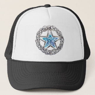 五芒星の水晶星の帽子 キャップ