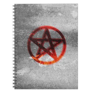 五芒星の螺線形ノート ノートブック