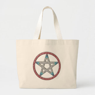 五芒星のPantacleの魔法の魔法使いの財布のトートバック ラージトートバッグ