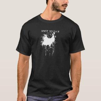 五芒星及び(ばちゃばちゃ)跳ねるのロゴ Tシャツ