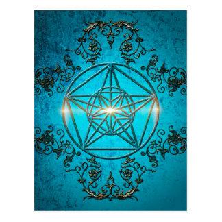 五芒星、魔法の記号 ポストカード