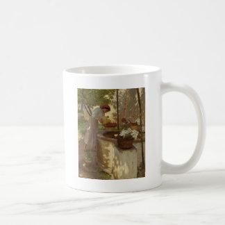 井戸からの水まきの花 コーヒーマグカップ