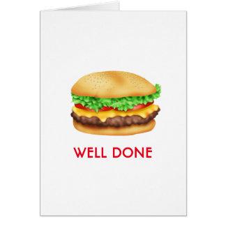 井戸によってされるハンバーガーのお祝いの卒業生 カード