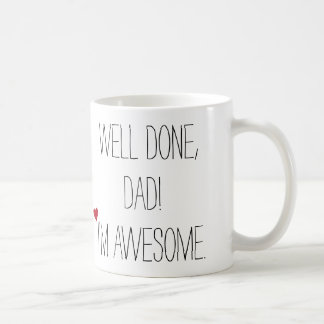 井戸によってされるパパのおもしろいな引用文の父の日の茶コーヒー コーヒーマグカップ
