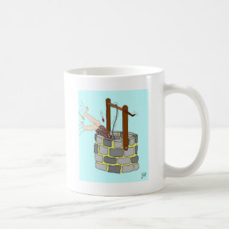井戸に落下 コーヒーマグカップ