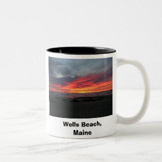 井戸のビーチメイン9-05の井戸ビーチ、メイン ツートーンマグカップ