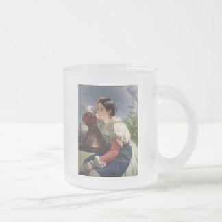 井戸の若いイタリア語 フロストグラスマグカップ