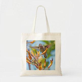 亜麻の花のハチドリ トートバッグ