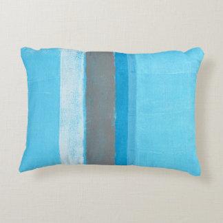 「交互になる」青い抽象美術 アクセントクッション