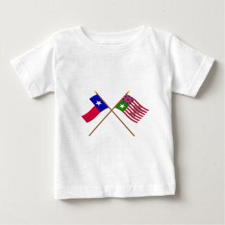 交差させたテキサス州およびSan Felipeの旗 ベビーTシャツ