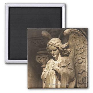 交差させた手を搭載する天使の彫像、ブエノスアイレス マグネット