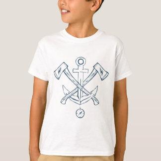 交差させた斧を持ついかり。 デザインの要素 Tシャツ