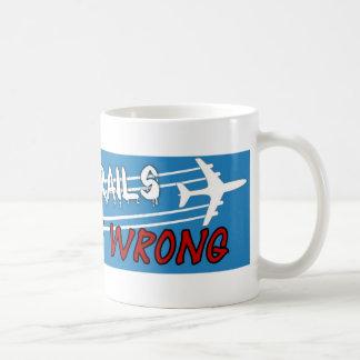 交差する平らな噴霧のchemtrails コーヒーマグカップ