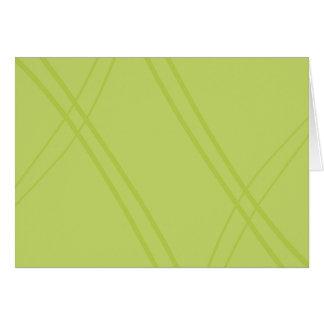 交差するYellowGreen Crissed カード