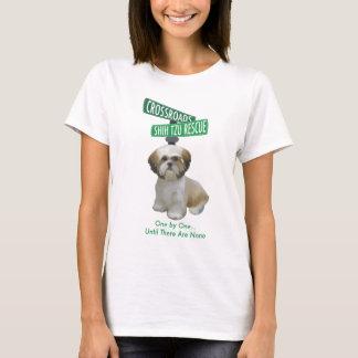 交差道路のShihTzuの救助 Tシャツ