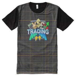 交換のオレンジ格子すべての印刷されたTシャツ オールオーバープリントT シャツ