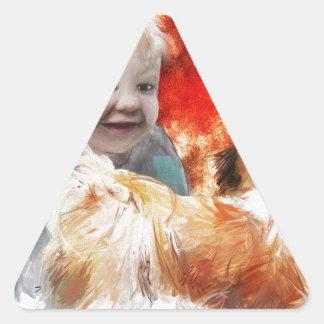 交換の幼年期の驚異 三角形シール