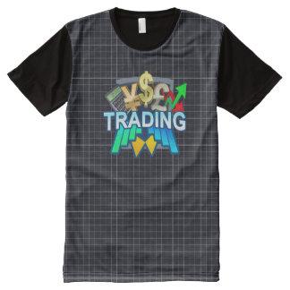 交換の格子すべての印刷されたTシャツ オールオーバープリントT シャツ