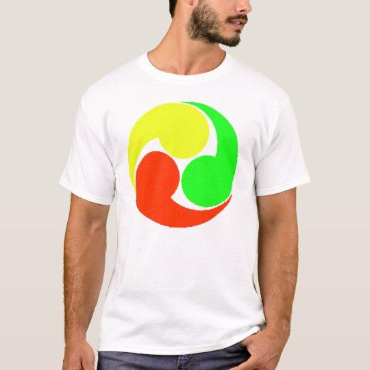 交通安全三つ巴マーク Tシャツ