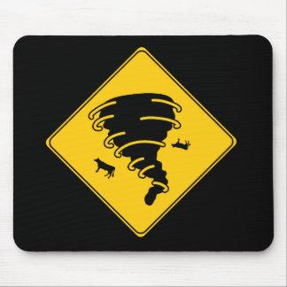交通標識のトルネード マウスパッド