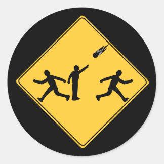 交通標識の流星 ラウンドシール