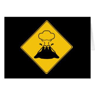 交通標識の火山 カード