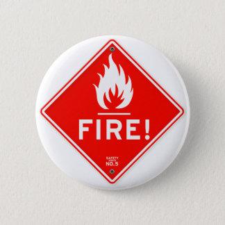 交通標識の赤い警告標識の火災危険 5.7CM 丸型バッジ