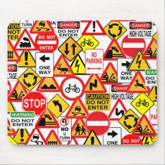 交通標識のmousepad マウスパッド