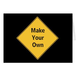 交通標識はあなた自身の挨拶のカードブランクを作ります カード