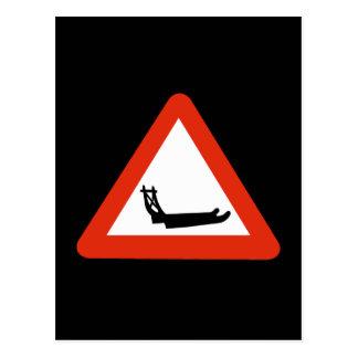 、交通標識交差する、犬のそりグリーンランド ポストカード