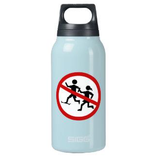 、交通標識許可されない演じます、子供をスペイン 断熱ウォーターボトル