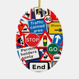 交通標識 セラミックオーナメント