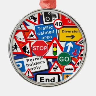 交通標識 メタルオーナメント