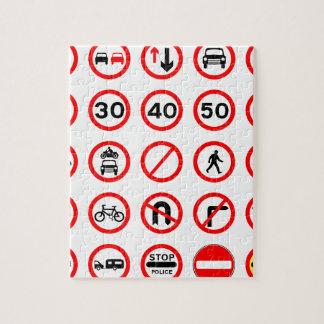 交通標識-赤い円形 ジグゾーパズル