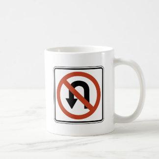 交通標識- Uターン無し コーヒーマグカップ