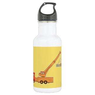 交通機関のオレンジクレーン-黄色 ウォーターボトル