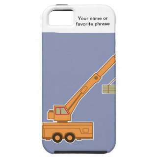 交通機関の重い装置のオレンジクレーン-青 iPhone SE/5/5s ケース