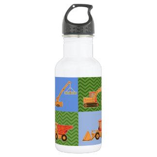 交通機関の重い装置-コラージュ ウォーターボトル
