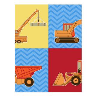交通機関の重い装置-コラージュ ポストカード