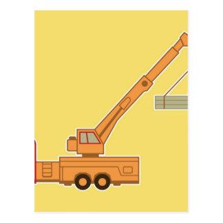 交通機関クレーン-黄色 ポストカード