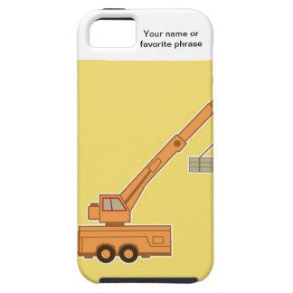 交通機関クレーン-黄色 iPhone SE/5/5s ケース