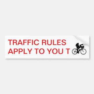 、交通規則適用しますあなたにTの    交通を…自転車に乗って下さい バンパーステッカー