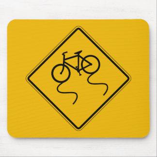 、交通警告標識ぬれた場合、米国滑り易い自転車 マウスパッド